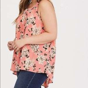 Torrid size 4 coral floral tank top